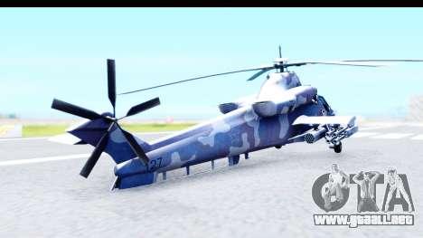 Denel AH-2 Rooivalk Blue para GTA San Andreas left