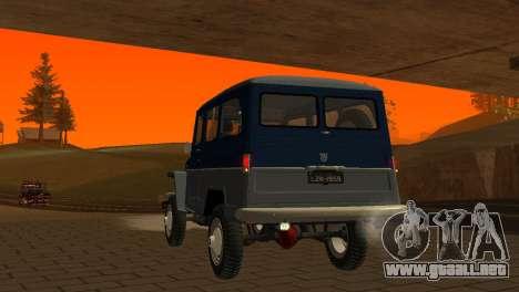 Jeep Station Wagon 1959 para la vista superior GTA San Andreas