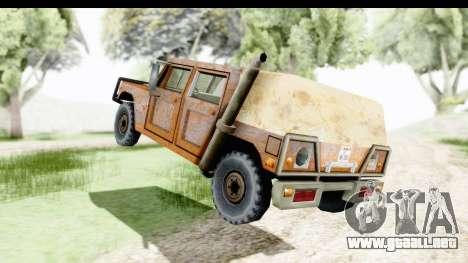 Rusted Patriot para GTA San Andreas vista posterior izquierda