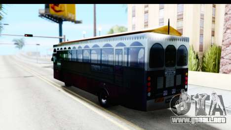 Cas Ligas Terengganu City Bus Updated para GTA San Andreas left