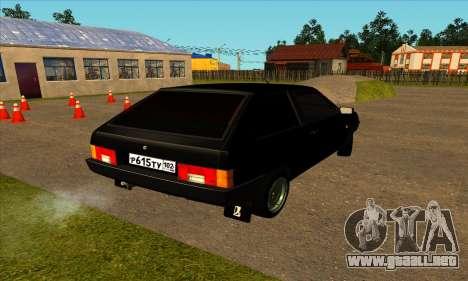VAZ 2108 para GTA San Andreas vista posterior izquierda