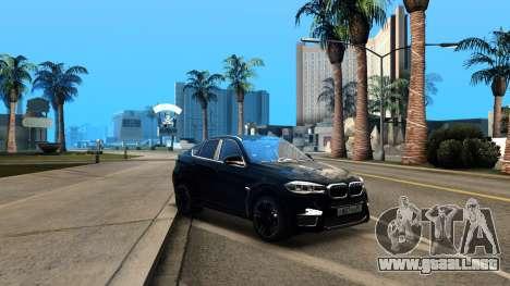 BMW X6M Bulkin Edition para visión interna GTA San Andreas