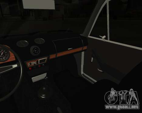 VAZ 2106 armenia para vista inferior GTA San Andreas