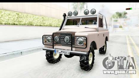 Land Rover Pickup Series3 para la visión correcta GTA San Andreas