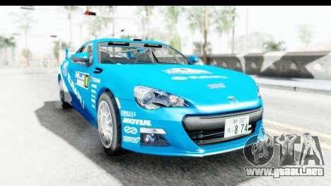 Subaru BRZ Rally para GTA San Andreas vista posterior izquierda