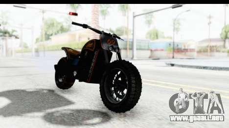 GTA 5 Western Gargoyle Custom v1 para GTA San Andreas vista posterior izquierda