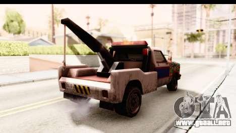 Towtruck Sticker Bomb para GTA San Andreas vista posterior izquierda