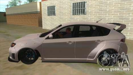 2008 Subaru WRX Widebody L3D para GTA San Andreas left