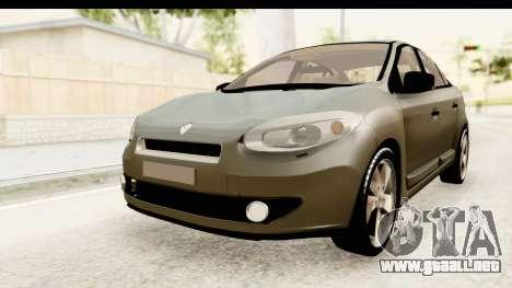 Renault Fluence v2 para la visión correcta GTA San Andreas