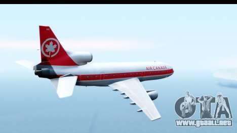 Lockheed L-1011-100 TriStar Air Canada para la visión correcta GTA San Andreas