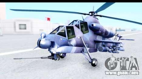Denel AH-2 Rooivalk Blue para la visión correcta GTA San Andreas