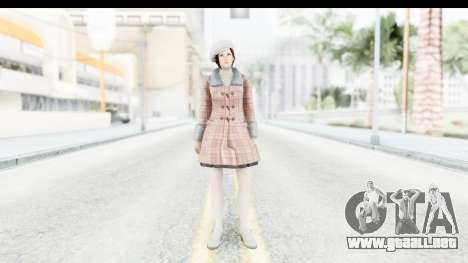 DoA 5 - Mila Casual para GTA San Andreas segunda pantalla