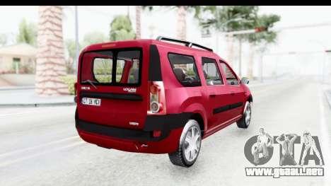 Dacia Logan MCV para GTA San Andreas left