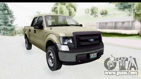 Ford F-150 Stock para la visión correcta GTA San Andreas