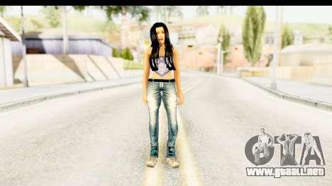 Gangsta Girl para GTA San Andreas segunda pantalla