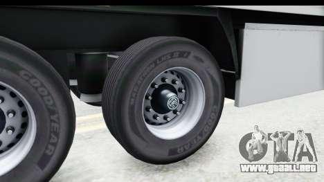 Trailer ETS2 v2 Old Skin 3 para GTA San Andreas vista hacia atrás