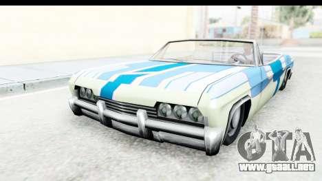 Blade New PJ para GTA San Andreas vista hacia atrás