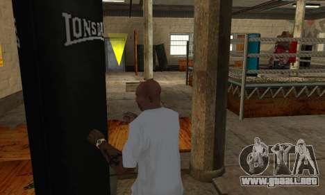 Saco de boxeo LonsDale para GTA San Andreas quinta pantalla