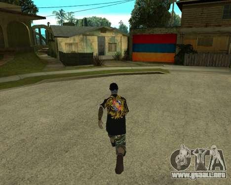 New Armenian Skin para GTA San Andreas sucesivamente de pantalla