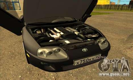 Toyota Supra Lambo para visión interna GTA San Andreas