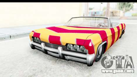 Blade New PJ para GTA San Andreas vista posterior izquierda