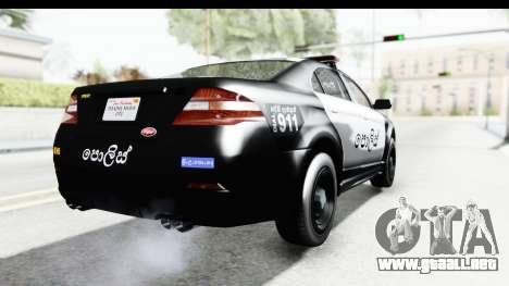 Sri Lanka Police Car v1 para la visión correcta GTA San Andreas