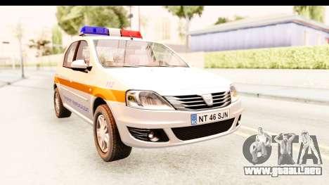 Dacia Logan Facelift Ambulanta v2 para la visión correcta GTA San Andreas
