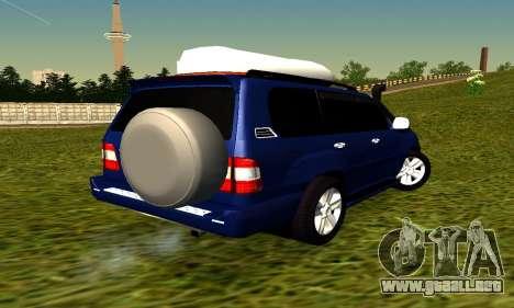 Toyota Land Cruiser 100vx2 para GTA San Andreas vista posterior izquierda