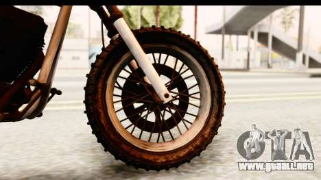GTA 5 Western Cliffhanger Custom v2 IVF para GTA San Andreas vista hacia atrás