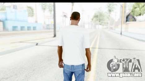 Captain America White T-Shirt para GTA San Andreas tercera pantalla