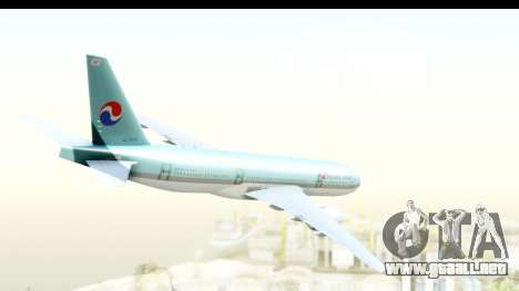 Boeing 777-200ER Korean Air para GTA San Andreas left