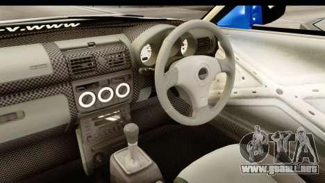 D1GP Nissan Silvia RC926 Toyo Tires para visión interna GTA San Andreas