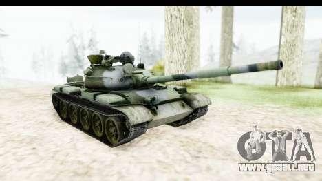 T-62 Wood Camo v2 para la visión correcta GTA San Andreas