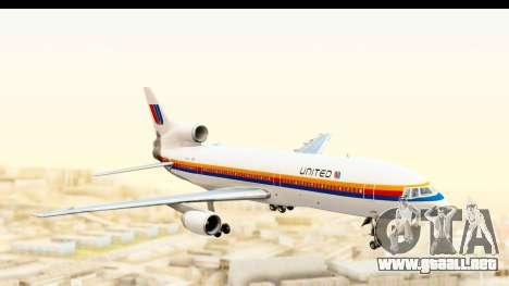 Lockheed L-1011-100 TriStar United Airlines para GTA San Andreas vista posterior izquierda