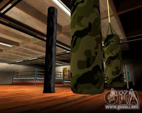 Militar nueva bolsa de boxeo para GTA San Andreas quinta pantalla