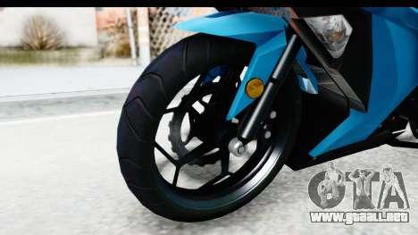 Kawasaki Ninja 300R para GTA San Andreas vista hacia atrás