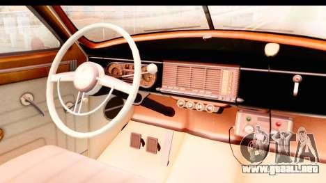Packard Standart Eight 1948 Touring Sedan LAPD para visión interna GTA San Andreas