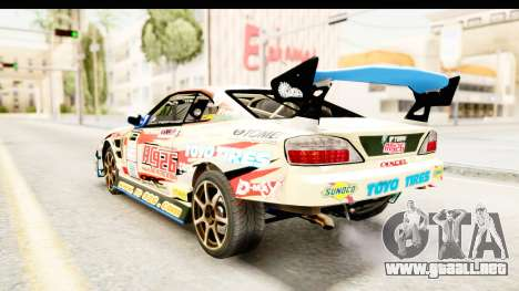 D1GP Nissan Silvia RC926 Toyo Tires para GTA San Andreas vista posterior izquierda