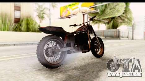 GTA 5 Western Cliffhanger Custom v1 para GTA San Andreas vista posterior izquierda