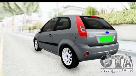 Ford Fiesta para GTA San Andreas left
