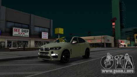 BMW X6M Bulkin Edition para la visión correcta GTA San Andreas