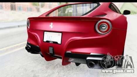 Ferrari F12 Berlinetta 2014 para la vista superior GTA San Andreas