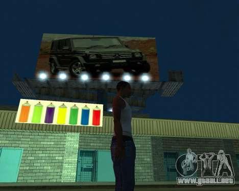 Pintar el garaje para GTA San Andreas segunda pantalla