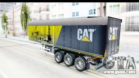 Trailer Caterpillar para GTA San Andreas vista posterior izquierda