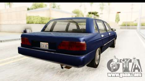 Solair Sedan para GTA San Andreas left