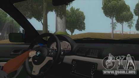 BMW E46 Touring Facelift para visión interna GTA San Andreas