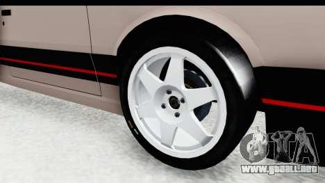 Peugeot 309 GTi para GTA San Andreas vista hacia atrás