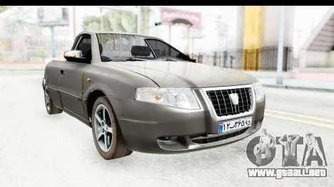 Ikco Samand Pickup v1 para la visión correcta GTA San Andreas