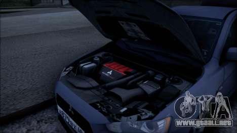 Mitsubishi Lancer GVR para la visión correcta GTA San Andreas