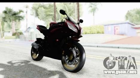 Yamaha YZF-R6 2008 para la visión correcta GTA San Andreas